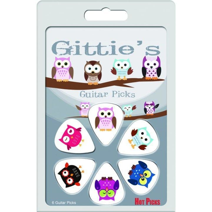 DX-Gitties Picks Owl Clamshell - Guitar & Bass