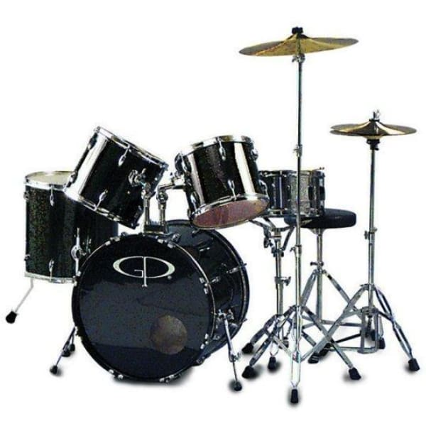 DX Gp Percus Performer Drum Set Black - Drum & Percussion