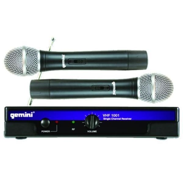 Gemini Dual Handheld VHF Wireless - Microphones