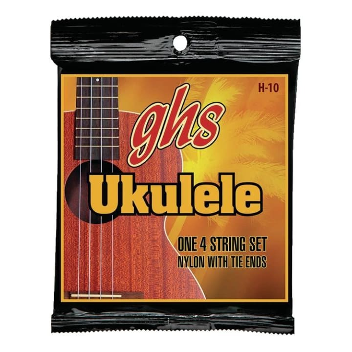 GHS Black nylon hawaii Ukulele4StringSet - World & Folk