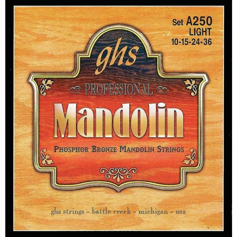 GHS Mandolin Phospher Bronze Light Gauge - World & Folk