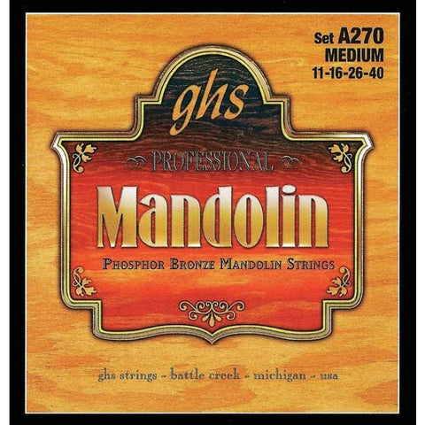 GHS Mandolin Strings Phos Bronze Medium - World & Folk