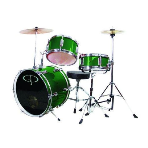 Gp 3 Pc Deluxe Jr Drumset Metal Frst.Grn - Drum & Percussion