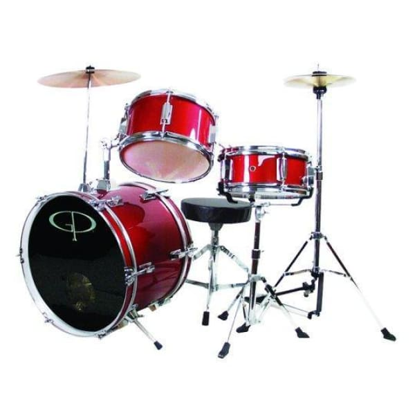 Gp 3 Pc Deluxe Jr Drumset Metallic Red - Drum & Percussion