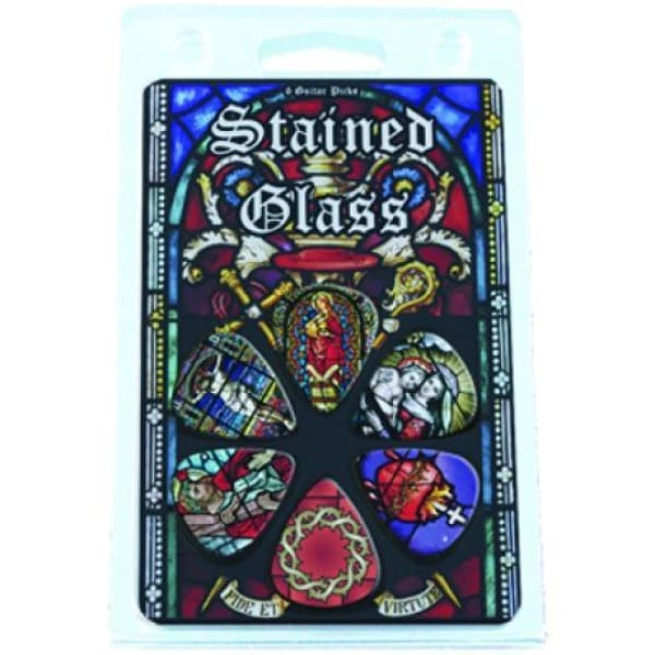 Hot Picks Religious Stnd Glass Clamshell - Guitar & Bass