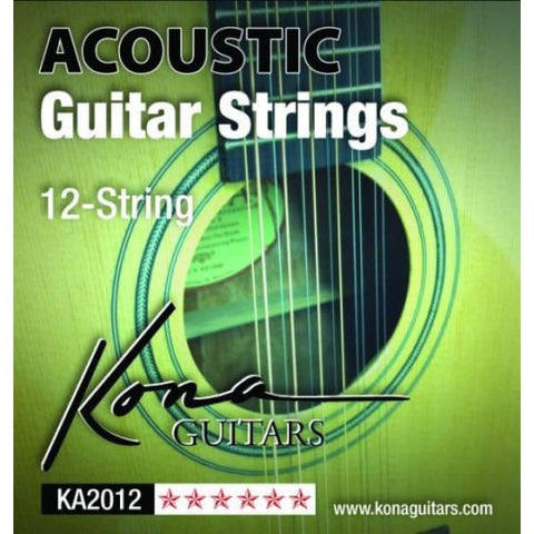 Kona 12 String Acoustic - Light - Guitar & Bass