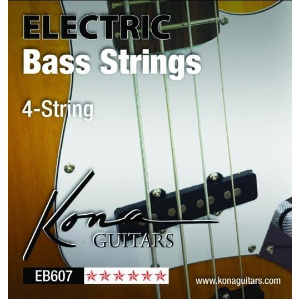 Kona Ele Bass 4 String Nrw .045-.105 - Guitar & Bass