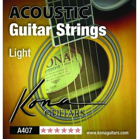 Kona Lt Acoust Strings Sbb .012-.053 - Guitar & Bass