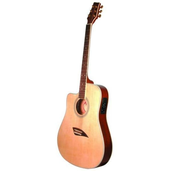 Kona Thin Electric Acoustic Left Natural - Guitar & Bass