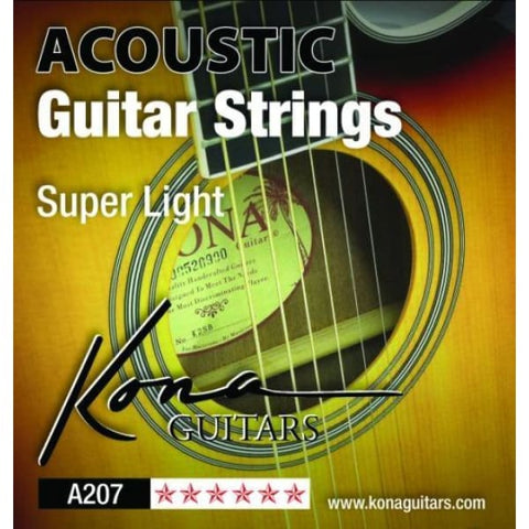 Kona X Lt Acoust Strings Sbb .011-.050 - Guitar & Bass