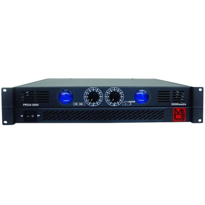 Mr DJ 2 Channel 5000 W Peak Pro Amp - DJ & Club Gear