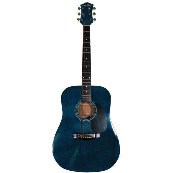 Ms 41 In Dreadnought Guitar Trans Blue - Guitar & Bass