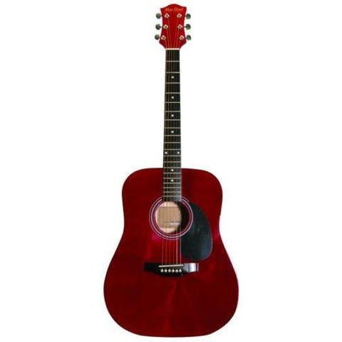 Ms 41 In Dreadnought Guitar Trans Red - Guitar & Bass
