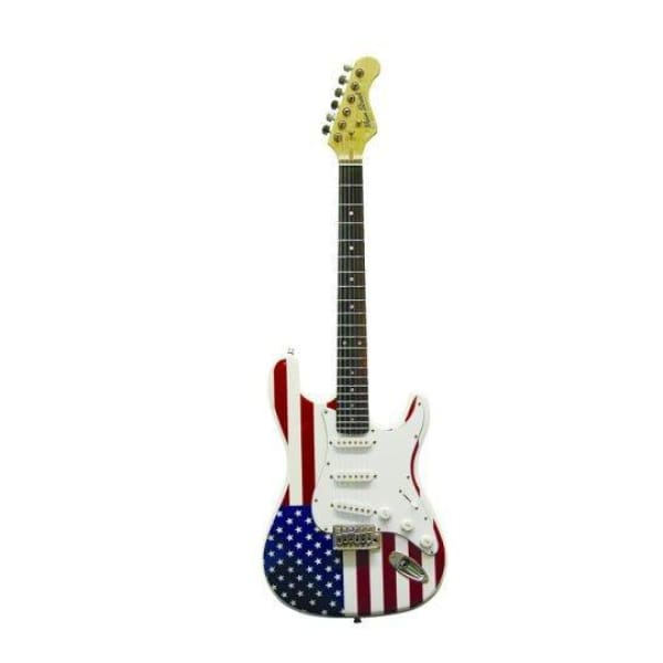 Ms Dbl Ca Sol Body Guit American Flag - Guitar & Bass