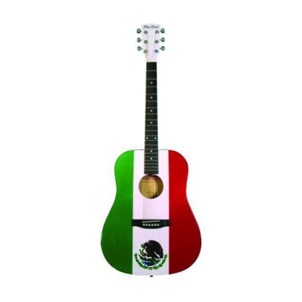 Ms Drd Acou Sp Top Guit Mexican Flag - Guitar & Bass