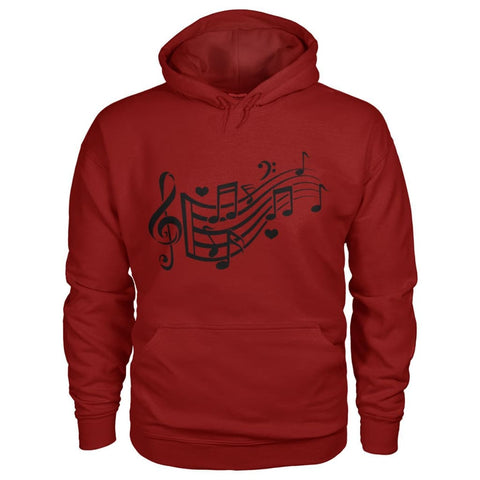 Image of Music Notes Hoodie - Cardinal Red / S - Hoodies