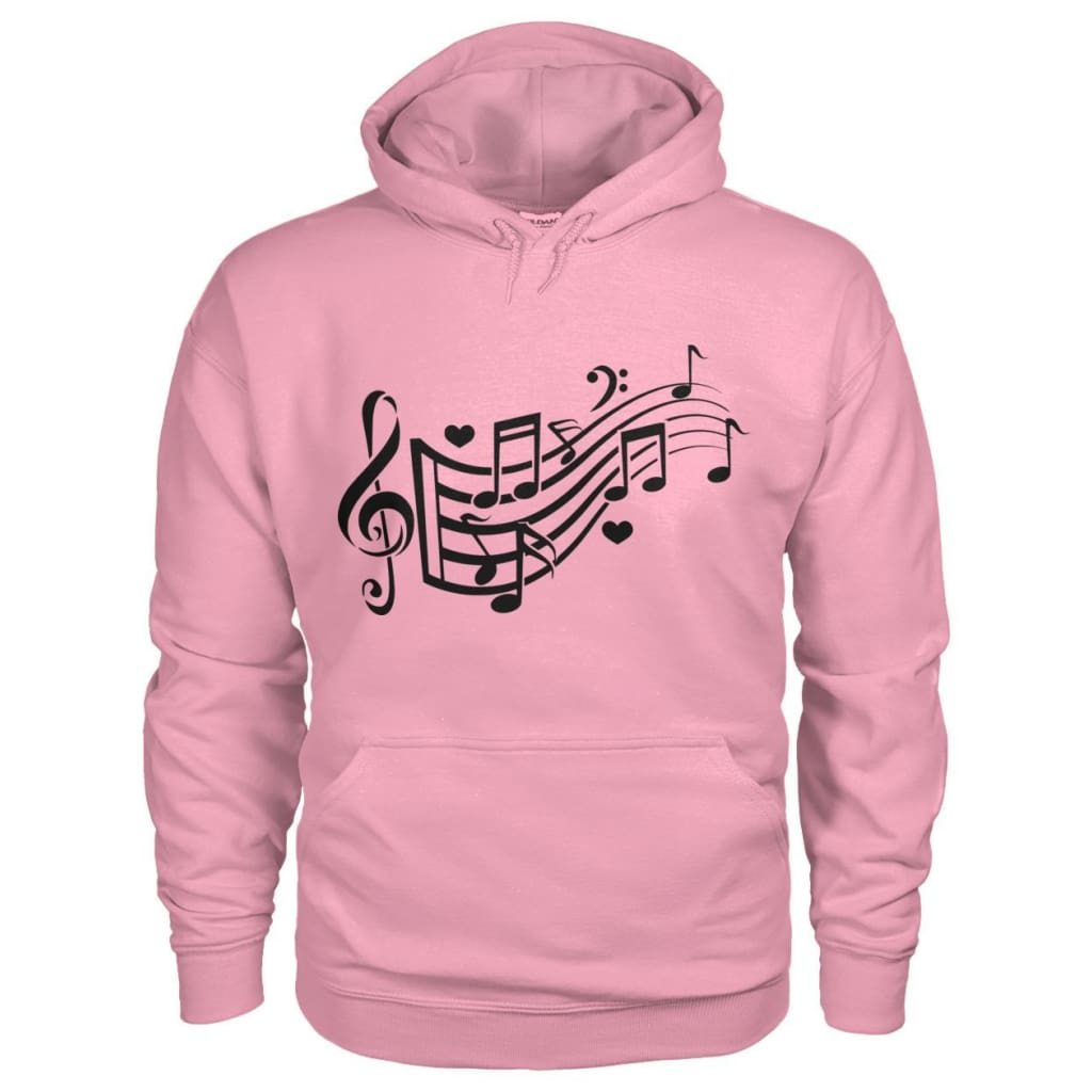 Music Notes Hoodie - Classic Pink / S - Hoodies