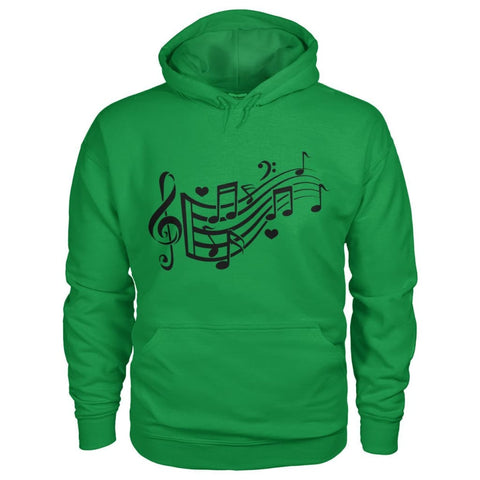 Image of Music Notes Hoodie - Irish Green / S - Hoodies