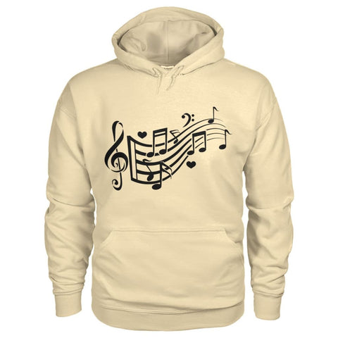 Image of Music Notes Hoodie - Sand / S - Hoodies