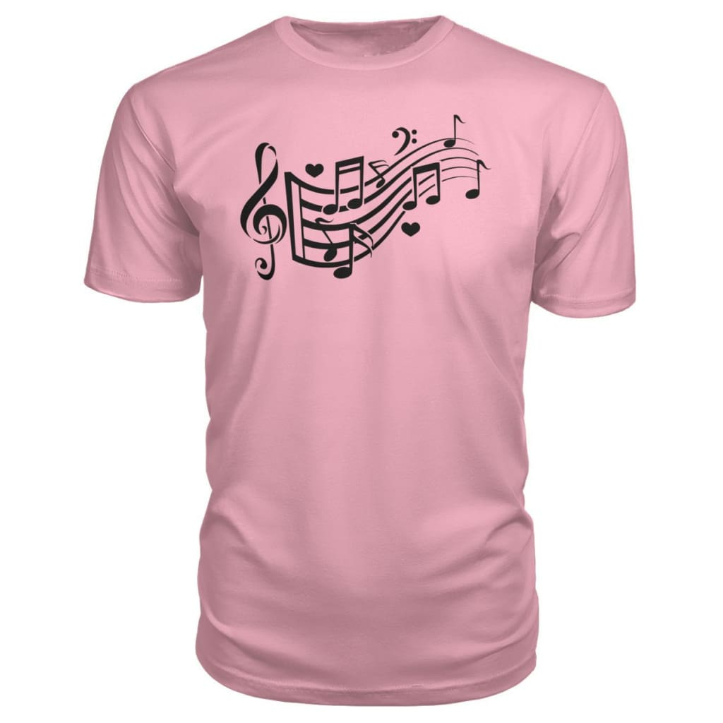 Music Notes Premium Tee - Charity Pink / S - Short Sleeves