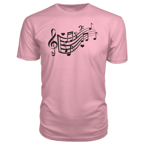 Image of Music Notes Premium Tee - Charity Pink / S - Short Sleeves