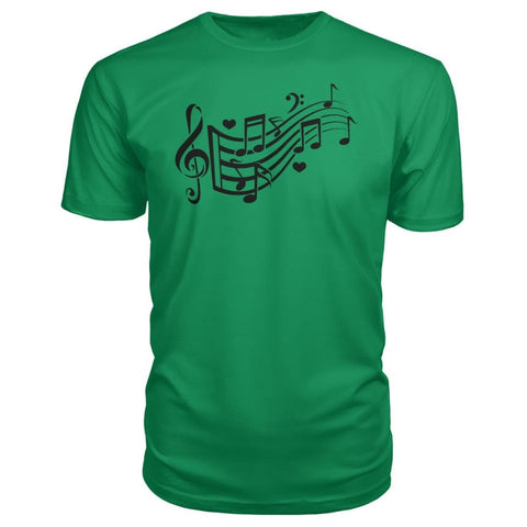 Image of Music Notes Premium Tee - Green Apple / S - Short Sleeves