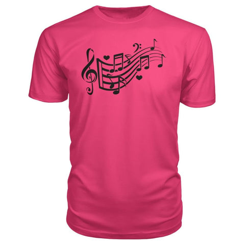 Image of Music Notes Premium Tee - Hot Pink / S - Short Sleeves