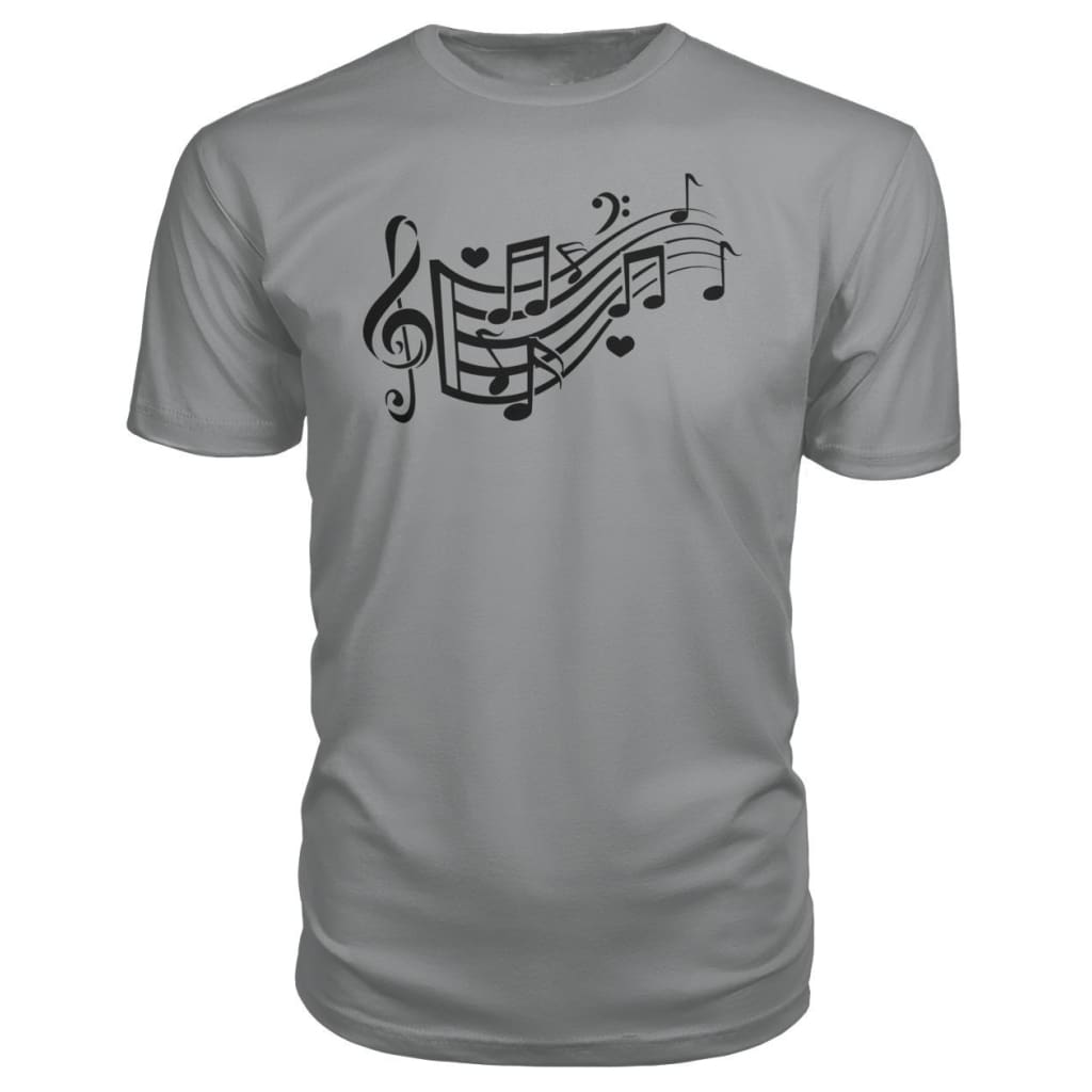 Music Notes Premium Tee - Storm Grey / S - Short Sleeves
