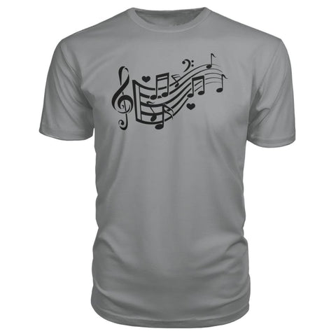 Image of Music Notes Premium Tee - Storm Grey / S - Short Sleeves