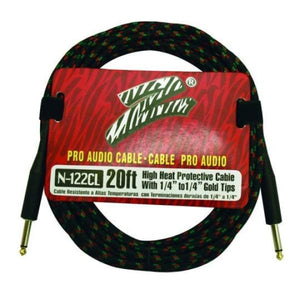NA 20 Ft Tweed Guitar Cable - Guitar & Bass