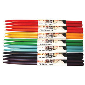 Perfektion 2B Rainbow Colored Stick Pack - Drum & Percussion