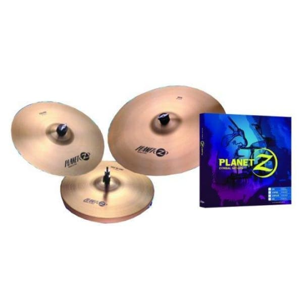 Planet Z 3 Pack 13in Pair 18in Cymbals - Drum & Percussion