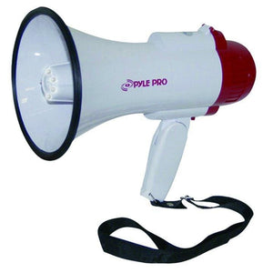 Pyle P Pro Power Megaphone w-Siren-LED - Microphones
