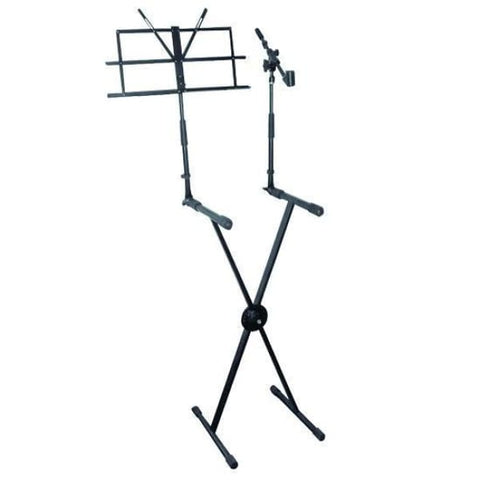 Pyle Pro Keyboard-Music Stand w-Mic Boom - Band