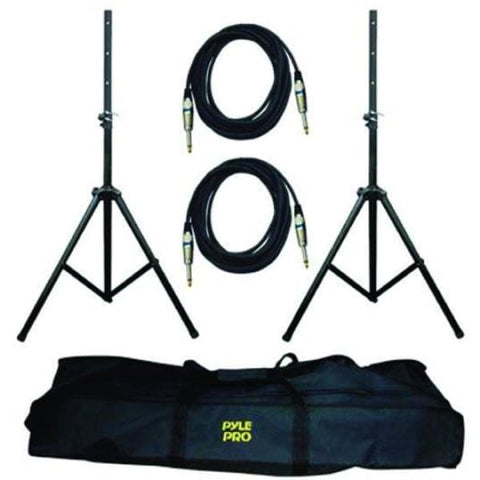 Pyle Pro Speaker Stand and 1-4 Cable Kit - DJ & Club Gear