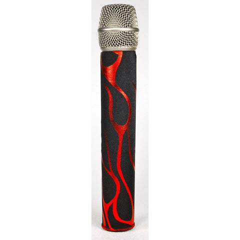 Rock Flames Red Mic Sleeve Shure Style