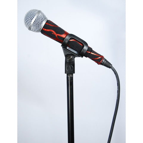 Rock Flames Red Corded Mic Sleeve