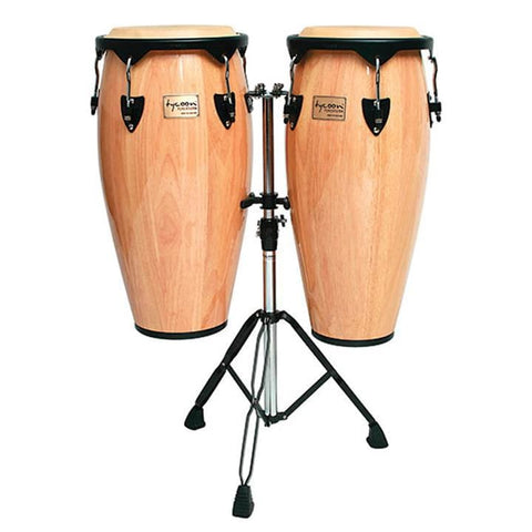 Tycoon 10-11 Congas Natural with Stand - Drum & Percussion