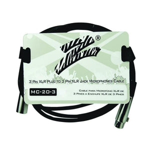 Zebra Mic Cable 3 ft 3 Pin to 3 Pin - Microphones