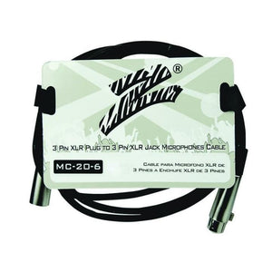 Zebra Mic Cable 6 ft 3 Pin to 3 Pin - Microphones