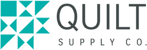 Quilt Supply Co logo.  Classic quilt block next to store name.  Online fabric and quilting supply store.