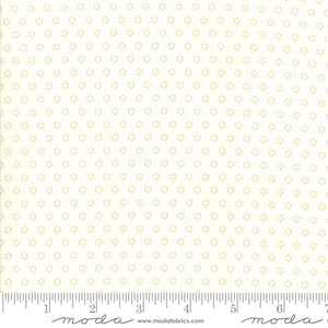 All Hallow's Eve Ghost Polka Dot Circles 20354-26 by Fig Tree & Co. yardage for Moda Fabrics.  Cream background with taupe gray circle dot print.  High quality quilting cotton.
