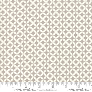 All Hallow's Eve Fog Crisscross 20356-15 by Fig Tree & Co. Yardage for Moda Fabrics.  Gray and white orange peel design on high quality quilting fabric.