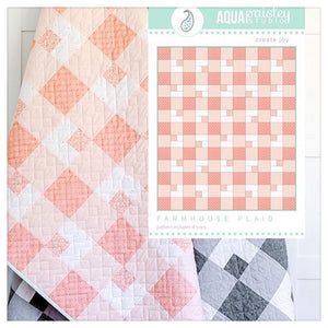Farmhouse Plaid Quilt Kit by Aqua Paisley Studio - Gray or Pink
