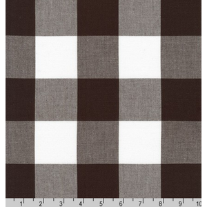 AZH-17723-174 ESPRESSO by Elizabeth Hartman from Kitchen Window Wovens. Large black and white gingham quilting cotton from Robert Kaufman.