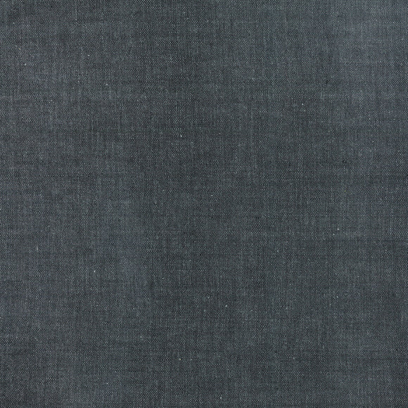 Color Swatch of black woven fabric called Cross Weave 12119-53.  Made by Moda.