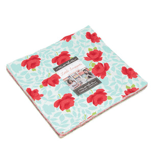 "Little Snippets Jelly Roll by Bonnie & Camille for Moda is a stack of 42 10"" precut fabric squares."