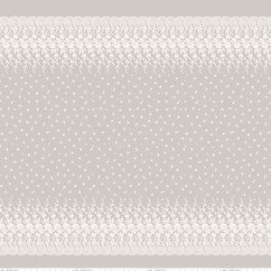 Serenity Border Print Taupe by Planted Seed Designs