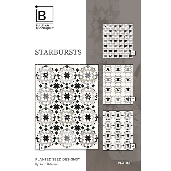Starbursts Quilt Pattern by Planted Seed Designs