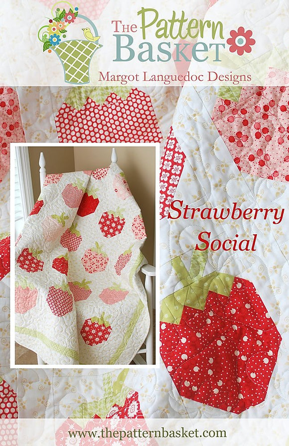 Strawberry Social Quilt Kit by The Pattern Basket